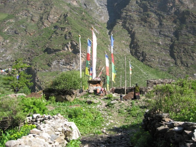 Villages on the way to Ganesh Himal