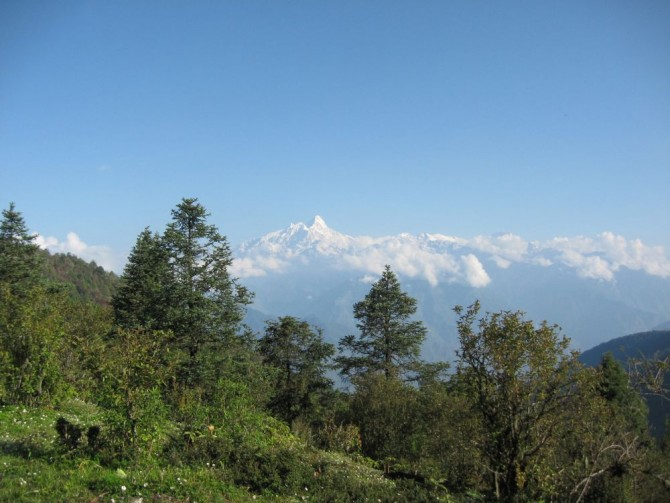 Mountain view in Ganesh Himal